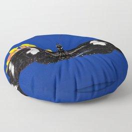 Wild Blue Floor Pillow