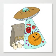 Pie UFO Canvas Print