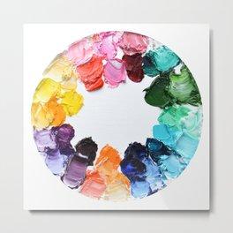 Color Wheel Polka Daubs Metal Print