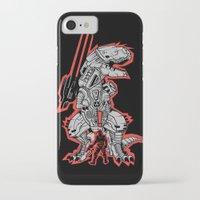 metal gear iPhone & iPod Cases featuring Metal Gear T.REX by MeleeNinja