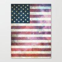 patriotic Canvas Prints featuring PATRIOTIC by alfboc
