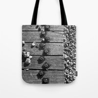 boardwalk empire Tote Bags featuring Boardwalk by Elise Price