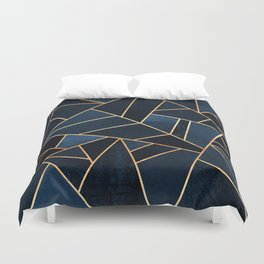 Navy Stone Duvet Cover