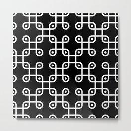 UFO knot pattern Metal Print