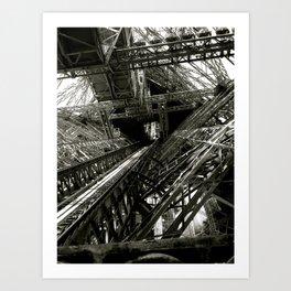 Eiffel Guts Art Print