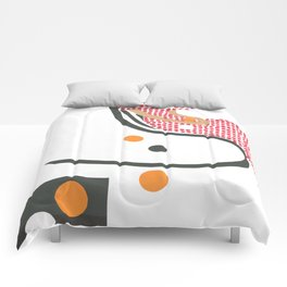 Girl with oranges 3 Comforters