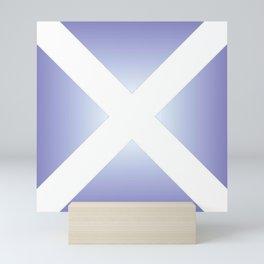 flag of scotland - with color gradient Mini Art Print