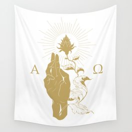 Alpha and Omega Wall Tapestry