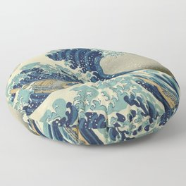 Great Wave Off Kanagawa (Kanagawa oki nami-ura or 神奈川沖浪裏) Floor Pillow