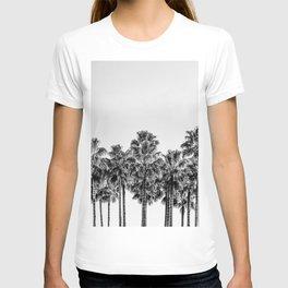 California Beach Vibes // Black and White Palm Trees Monotone Travel Photograph T-shirt