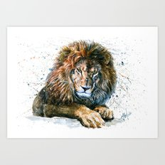 Lion 3 Art Print