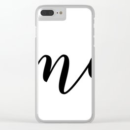 'Namaste' Pose in Bright Solid White and Black Text Yoga Exercise Clear iPhone Case
