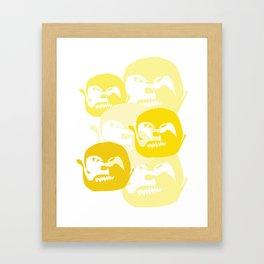 One line Framed Art Print