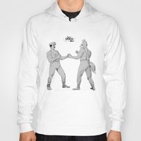 smash bros Hoodies featuring Old Timey Smash Bros by MikeOB