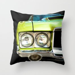 Auto Parts:  Green Machine! Left Side Version Throw Pillow