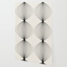 Geometric Orb Pattern - Black Wallpaper