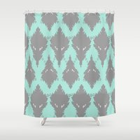 persian Shower Curtains featuring Persian Textile by Nahal