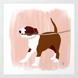 Eugenie the Bull Terrier Art Print
