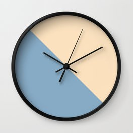 blue and beige triangular background Wall Clock