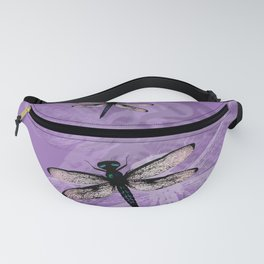 Blue dragonfly vector Fanny Pack