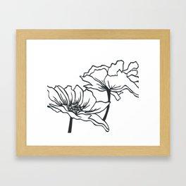 Paper-cut Poppy Framed Art Print