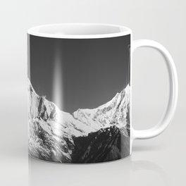 Monochrome Black and White Himalaya Mountain Range. Annapurna, Nepal. Nature Photography. Coffee Mug