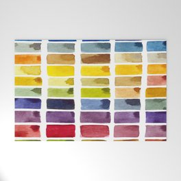 Watercolor Rainbow Tile Welcome Mat