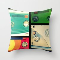 vw Throw Pillows featuring VW Collage by RDelean