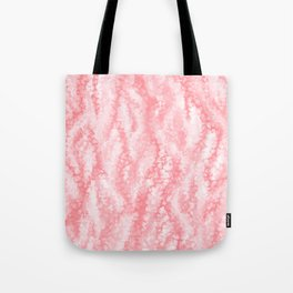 Pastel Strawberry Pink Lacey Icing Tote Bag
