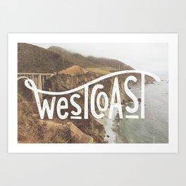 West Coast - BigSur Art Print