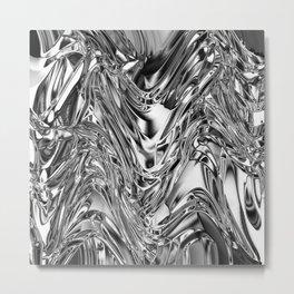 Silver Molten Metal Metal Print