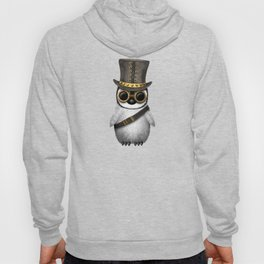 Steampunk Baby Penguin on Blue Hoody