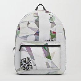 Gemstone Party on White Floor Backpack