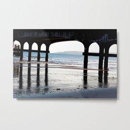 Tranquil Pier Metal Print