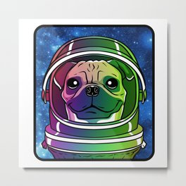 Cosmo the AstroPug Metal Print
