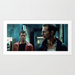 Edward Norton and Brad Pitt Art Print