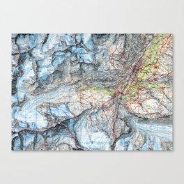 Matterhorn Zermat Map Canvas Print