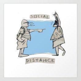 SOCIAL DISTANZ Art Print