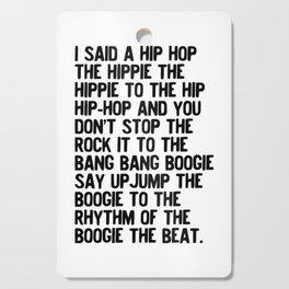 RAPPERS DELIGHT Hip Hop CLASSIC MUSIC Cutting Board