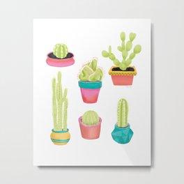 Cacti Family Portrait Metal Print