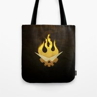 gurren lagann Tote Bags featuring Gurren Lagann Movie Poster by 5eth