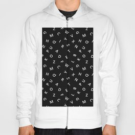 The Missing Letter Alphabet B&W Hoody