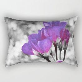 Fuchsia Violet Flowers Pop Of Color Rectangular Pillow