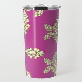 Jewelbox: Citrine Brooch on Dark Lipstick Travel Mug
