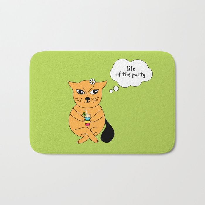 Beatrice. The cat that thinks... Party Bath Mat