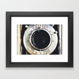 Close-Up Photo of Vintage Camera Framed Art Print
