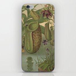 Antique Carnivorous Plants Lithograph iPhone Skin