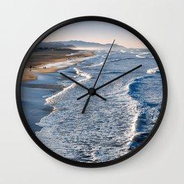 Lands End Beach Wall Clock