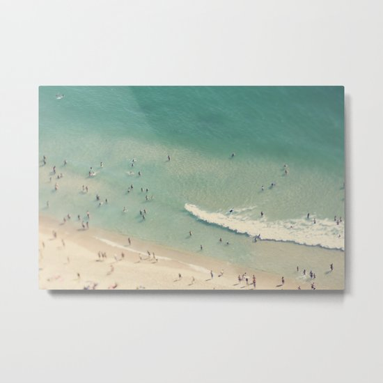 beach love II - Nazare Metal Print