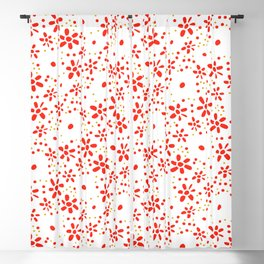 Modern floral dots Blackout Curtain